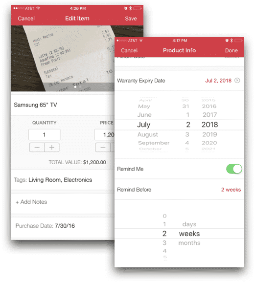 Free Home Inventory App for iOS & Android, House Storage Box