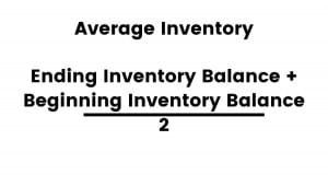 The formula for average inventory